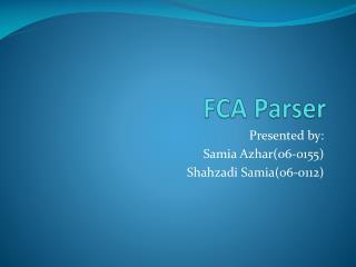 FCA Parser