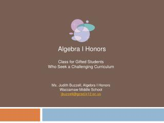 Algebra I Honors