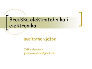 Brodska elektrotehnika i elektronika