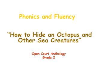 Phonics and Fluency