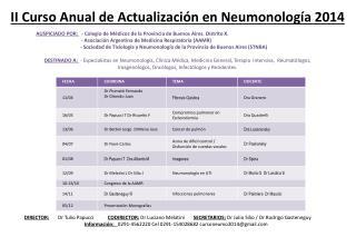 II Curso Anual de  A ctualizaci�n  en  Neumonolog�a 2014