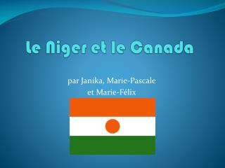 Le Niger et le Canada