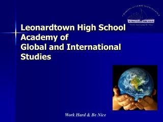 Leonardtown High School Academy of  Global and International Studies