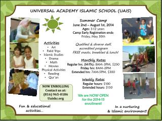 UNIVERSAL ACADEMY ISLAMIC SCHOOL (UAIS)