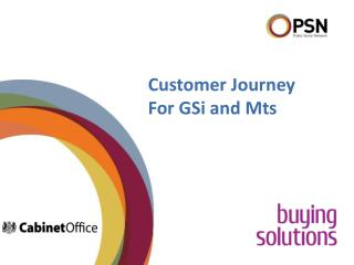Customer Journey For GSi and Mts