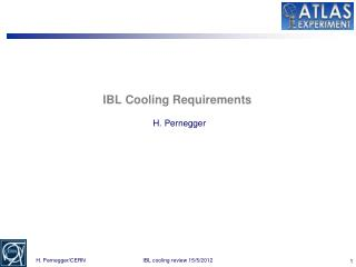 IBL Cooling Requirements