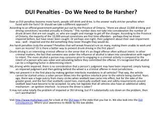 DUI Laws
