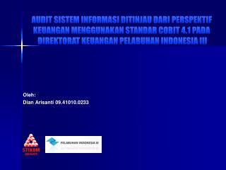 Oleh: Dian Arisanti 09.41010.0233