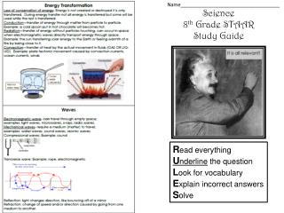 Science 8 th  Grade STAAR Study Guide