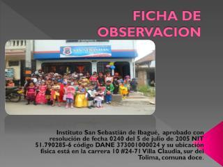 FICHA DE OBSERVACION