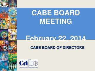 CABE BOARD OF DIRECTORS