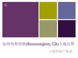 加州布鲁明顿 (Bloomington, CA) 土地出售