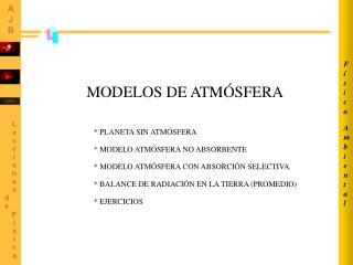 MODELOS DE ATM�SFERA