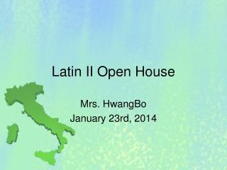 Latin II Open House
