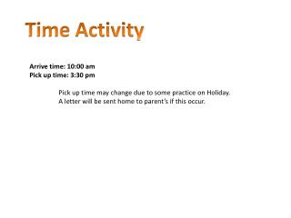 Time Activity