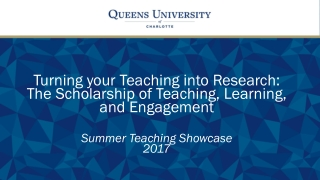 Research for Teaching and Learning Development