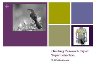 Guiding Research Paper Topic Selection