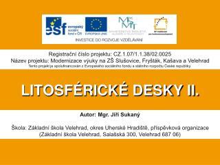 LITOSFÉRICKÉ DESKY II.