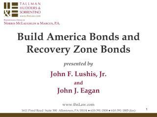 Build America Bonds and  Recovery Zone Bonds