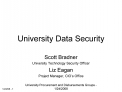 University Data Security