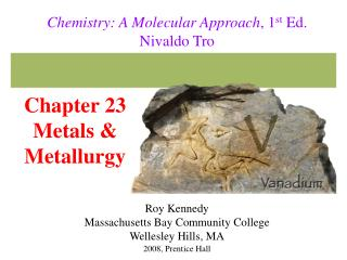 Chapter 23 Metals  Metallurgy