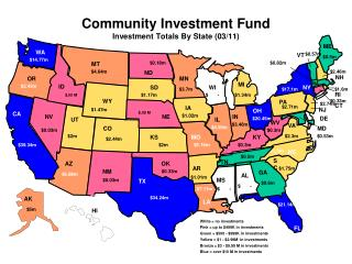 Community Investment Fund  Investment Totals By State  ( 03/11 )