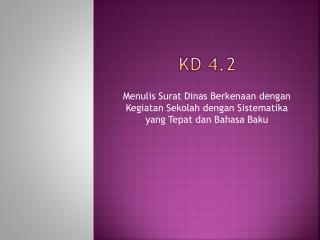 KD 4.2