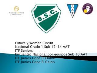 Future  y  Women Circuit Nacional Grado 1 Sub 12-14 AAT ITF  Seniors