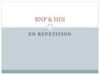 BNP & HDI