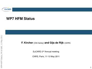WP7 HFM Status