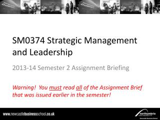 SM0374 Strategic Management and Leadership