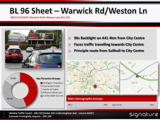BL 96 Sheet – Warwick Rd/Weston Ln