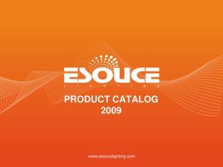 PRODUCT CATALOG 2009