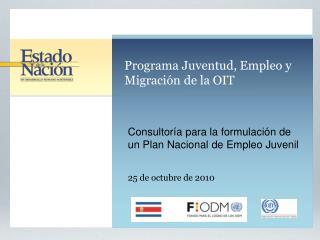 Programa Juventud, Empleo y Migración de la OIT