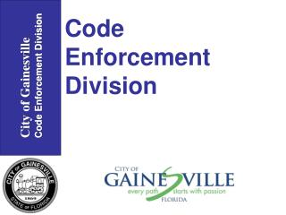 City of Gainesville Code Enforcement Division