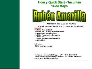 MIEMBRO   DEL  CLUB  DE  MUNDO LUGAR:  Avenida Avellaneda 212 - Oficina 1 - Subsuelo
