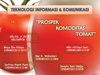 """""""PROSPEK  KOMODITAS  TOMAT"""""""