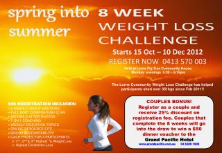 8 WEEK WEIGHT LOSS CHALLENGE