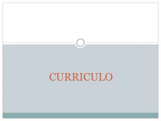 CURRICULO