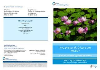 Hva ønsker du å lære om MCTD?