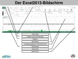 Der Excel2013-Bildschirm