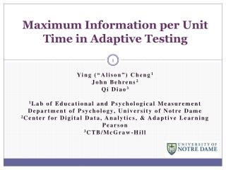 Maximum Information per Unit Time in Adaptive Testing