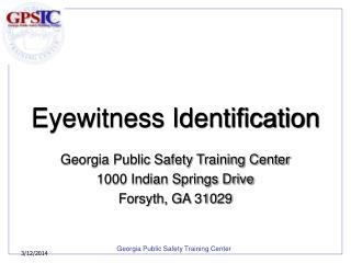 Eyewitness Identification