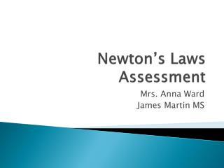 Newton's Laws Assessment