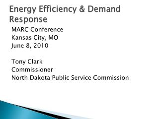 Energy Efficiency & Demand Response