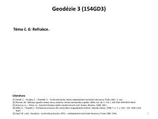 Geodézie  3  ( 154GD3 )