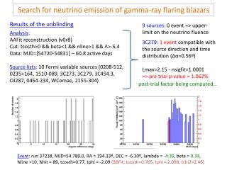 Search for neutrino emission of gamma-ray flaring  blazars