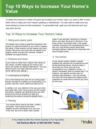 If You Need to Sell Your Home Quickly & For Top Dollar,