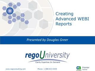 Creating Advanced WEBI Reports