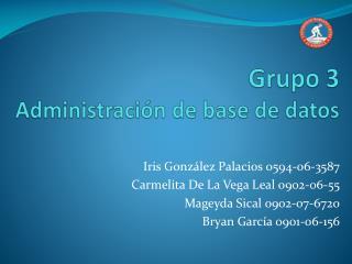 Grupo 3 Administración de base de datos